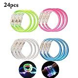 Joyibay 24 Stück Kinder LED Armband Leuchten Armband Bubble Dekor Party Armband für Kinder Erwachsene