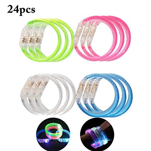 Joyibay 24PCS Leuchten Armband Flash Armband für Partei LED Armband Blase Dekor Partei Spielzeug - Material Für Dekore Die Partei