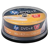 HP (R) dr16025cb 4.7 GB 16 x DVD + Rs (25-ct Cake Box Spindel) 5.50in. x 5.50in. x 2.20in.
