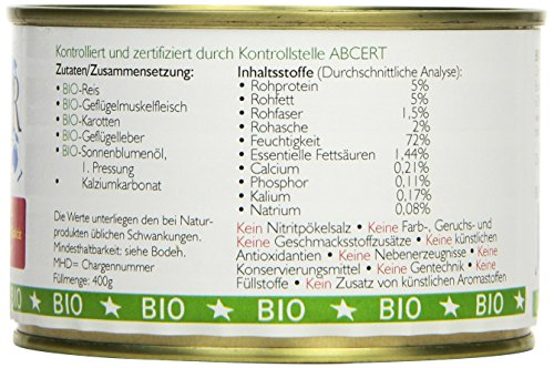 Biopur Bio Diätfutter Nieren-Erkrankungen 400g, 6er Pack (6 x 400 g) - 4