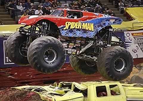 Poster–meilleure qualité Monster Truck Spiderman. Véritable photo. Amazing Décoration pour mur. Taille A4