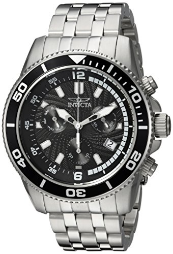 Invicta Men's 'Pro Diver' Quartz Stainless Steel Diving Watch, Color:Silver-Toned (Model: 24650) image