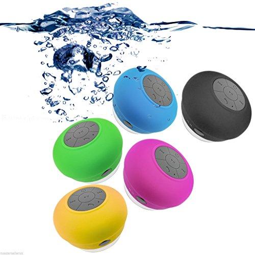 Mini Ultra Portable impermeable Fenguh Bluetooth inalámbrico altavoces estéreo con ventosa para duchas, baños, piscina, barco, coche, playa, etc, al aire libre.