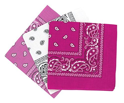 Set 3 bandanas paisley damen und herren 57x57cm (Jacke Klassische Accessoires)