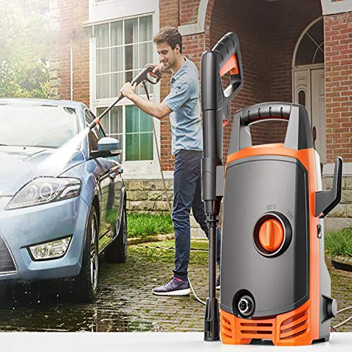 FENG Hochdruckautowäscher-Pumpe,90 Bar 1400W Hochdruckreiniger mit Zubehör für das Waschen von Autos/Motorrädern Bewässerung im Garten,