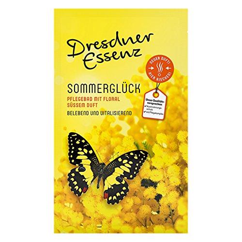 12er Pack Dresdner Essenz Pflegebad Wellnessbad Sommerglück 12 x 60 g, Badezusatz, Badepulver, Badesalz, Körperpflege