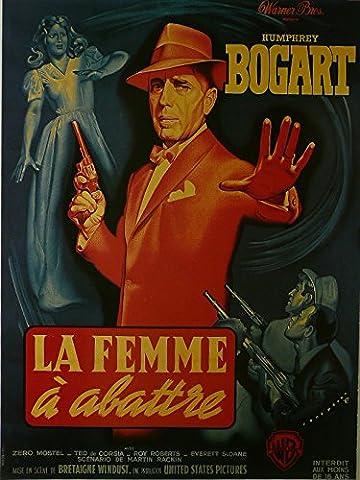 Die Enforcer–Humphrey Bogart (Französisch)–Film Poster gerahmt Bild 27,9x 35,6cm
