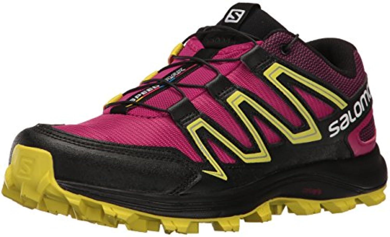 Salomon Speedtrak W, Zapatillas de Trail Running para Mujer, Rojo (Sangria/Sulphur Spring/Black), 36 EU