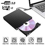 ACEPC GQ06, Externer CD/DVD-Player für Windows/XP/Vista/Mac, USB 3.0 / Type-C, Tragbar/Ultraslim/Plug & Play