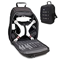 Accessory Power Drone Backpack Travel Carrying Bag by USA Gear - For DJI Mavic Pro, Spark, Yuneec Breeze, RC Quadcopters & More - Water & Impact Resistant, Customizable Interior, Padded Protection by Accessory Power