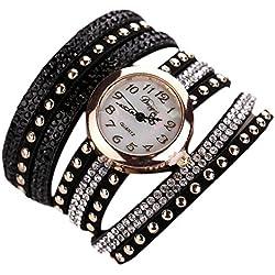 Sunnywill Frauen Mädchen Damen Schöne Mode Design Lässige PU Leder Armbanduhr für Weibliche