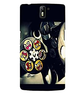 PRINTSWAG REVOLVER WITH SMILEY Designer Back Cover Case for ONE PLUS ONE