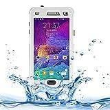 Schützen Sie Ihr Mobiltelefon Link Dream Waterproof Schutzhülle mit Lanyard für Samsung Galaxy Note 4 / N9100 für Samsung Handy (Farbe : Weiß)