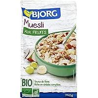 Bjorg - Muesli aux fruits Bio - Le paquet de 750g - Prix Unitaire - Livraison Gratuit Sous 3 Jours