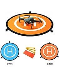 kingwon RC Drone Quadcopter Helicóptero Landing Pad Easy de Fold helipad dronepad Launch Pad con bolsa de transporte para DJI Mavic Phantom 2 3 4 Inspire 1 Outdoor accesorios 75 cm