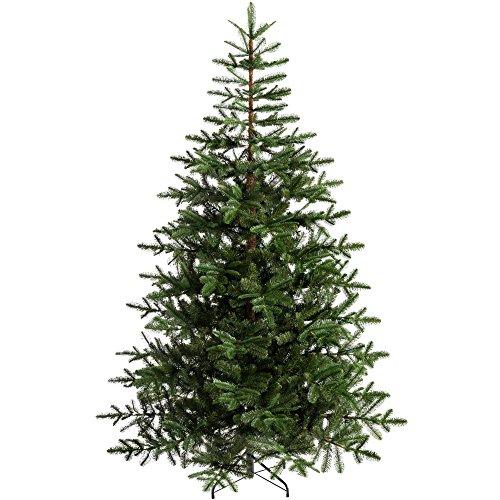 WeRChristmas Nordmann Tanne Weihnachtsbaum, Kunststoff, grün, 6ft/1,8M, Plastik, grün, 7 feet/2.1 m (6 1 2 Weihnachtsbaum)