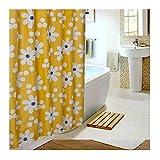 Epinki Polyester Duschvorhang Sonne Blumen Muster Badewanne Vorhang für Badezimmer Badewanne Gelb 200x220CM