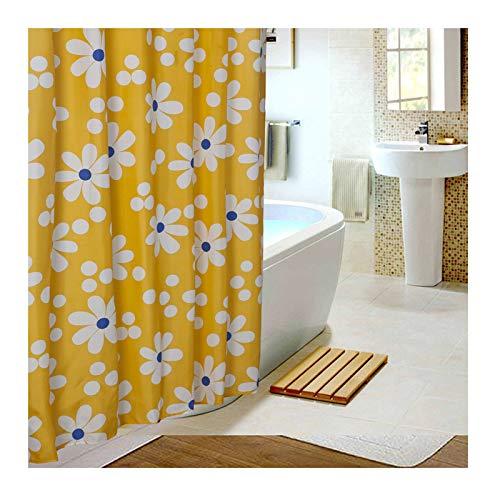 Abellale Badezimmer Duschvorhang Badezimmer Vorhänge Dusche Polyester Gelb Sonne Blume 180X220 CM (Herrliche Dusche Vorhang)