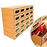 YIYIBY Schuhbox Schuhaufbewahrung Set, 20X aufbewahrungsbox Stapelbar Storage Box for Shoes Schuhkarton Schuhschachtel Allzweckbox Schublade Pappe