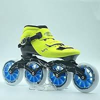 ZCRFY Zapatos De Patinaje De Velocidad Zapatos De Carreras Adultos Niños Y Niñas Profesionales Patines De Pastel De Fibra De Carbono Roller Skateroller Recta 110 M,D-35
