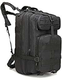 Eyourlife RFID Mochila Militar Táctica Molle para Acampada Camping Senderismo Deporte Backpack de Asalto Patrulla para Hombre Mujer 40L Negro