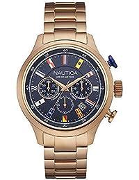 Reloj Nautica NCT 16 Flags nai21507g al cuarzo (batería) acero quandrante Azul Correa Acero