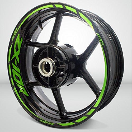 Verde Chiaro Lucido Ruote Moto Cerchione Decalcomanie Accessorio Adesivi per Kawasaki ZX10R