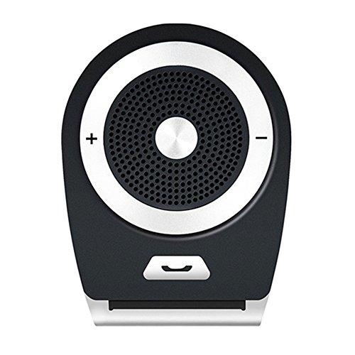 [version française] Andven Kit Mains Libres Bluetooth 4.1 pour voiture avec Allumage Automatique par capteur de mouvement intégré, Appairage avec 2 téléphones - Noir