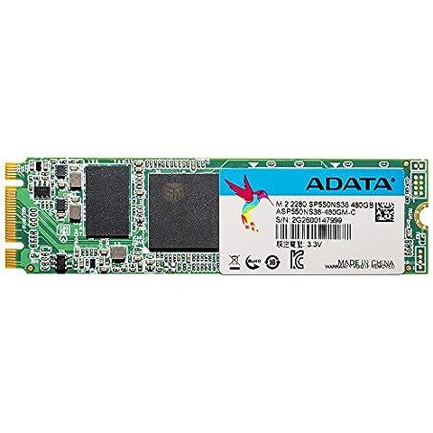 ADATA SP550 M.2 2280 480GB mit 560MB/s Lesen und 510MB/s Schreiben rasend schnell SATA III Solid State