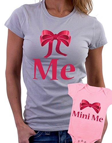t-shirt e body rosa festa della mamma - Me , mini me -tutte le taglie uomo donna maglietta by tshirteria grigio