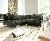 DELIFE Couch Clovis modular - Ecksofa, Sofa, Wohnlandschaft & Modulsofa (Schwarz/Schwarz, Ecksofa Links)