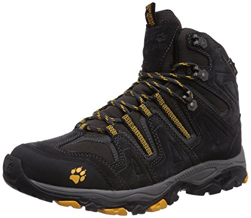 Jack Wolfskin Mountain Attack Mid Texapore M, Randonnée Hautes Homme Noir (Burly Yellow 3800)