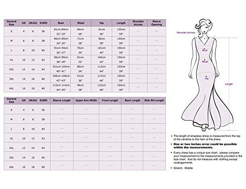 Ever Pretty Robe de Soiree Maxi Elegante Col Rond 08628 Bordeux