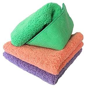 Dunin'Dustid - Mikrofasertücher - extrem saugfähig und universell einsetzbar in Haus & Auto - streifen-, kratzer-, fussel- & staubfreie Reinigung ohne Chemikalien - 30,5 x 30,5 cm - Set mit 3 Stück