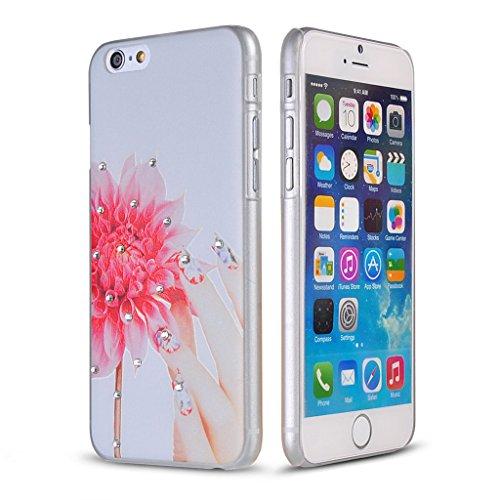 UKDANDANWEI Apple iPhone 6s Hülle Case - Bling Strass Ultra Dünn Hart PC Hülle Glitzer Rückseite Slim Etui Schale für Apple iPhone 6s -14 Bling-15
