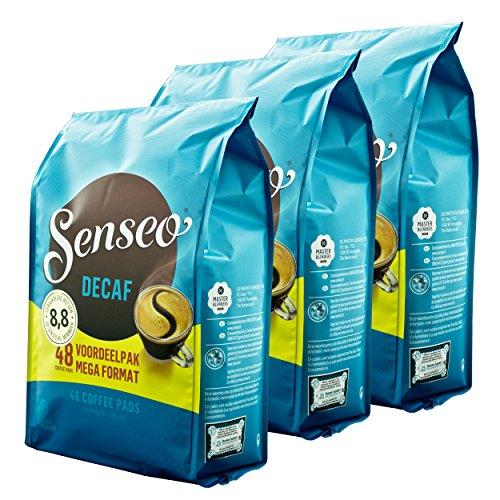 Senseo Kaffeepads Decaf / Entkoffeiniert, Reiches Aroma, Intensiv & Ausgewogen, Kaffee für...