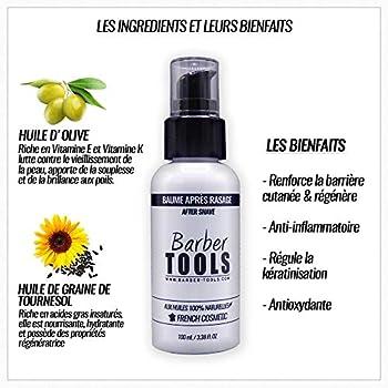 Baume après rasage 100ml - Pour l'entretien et le soin de la peau - FABRIQUE EN FRANCE ? BARBER TOOLS ?