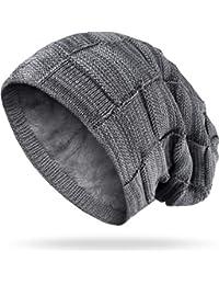Mütze Beanie Strickmütze Winter Damen Mützen ohne Bommel weiß M11