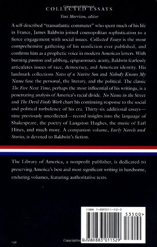 James Baldwin: Collected Essays: Notes of a Native Son / Nobody Knows My Name: (Library of America #98)