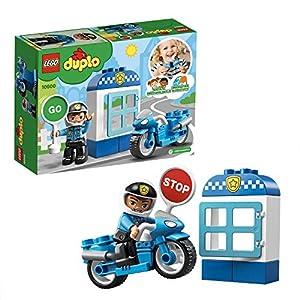 LEGO DUPLO Town DUPLO Rescue Moto de Policía Vehículo de juguete de construcción y aventuras, multicolor (10900)