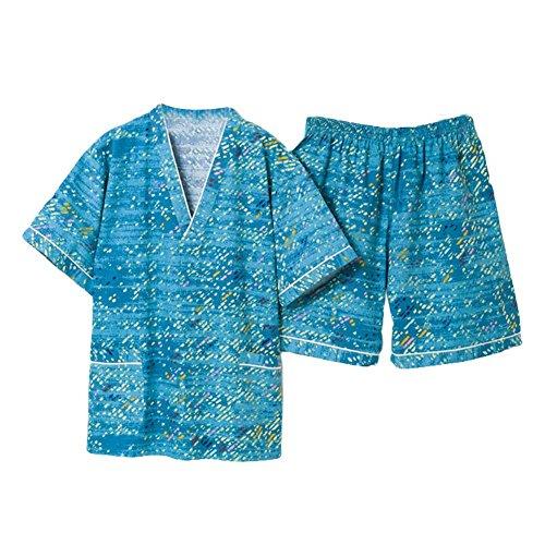 Turquoise Männer Pyjamas Anzug kurze Pyjamas Loungewear Baumwolle Khan Dampfgarderobe (Pjs Loungewear)