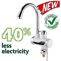 Tavalax Schnelle Elektrische Warmwasserbereiter & & Klein Durchlauferhitzer & Boiler & Elektrische Durchlauferhitzer & Elektrische Wasserhahn (Modern (LED))