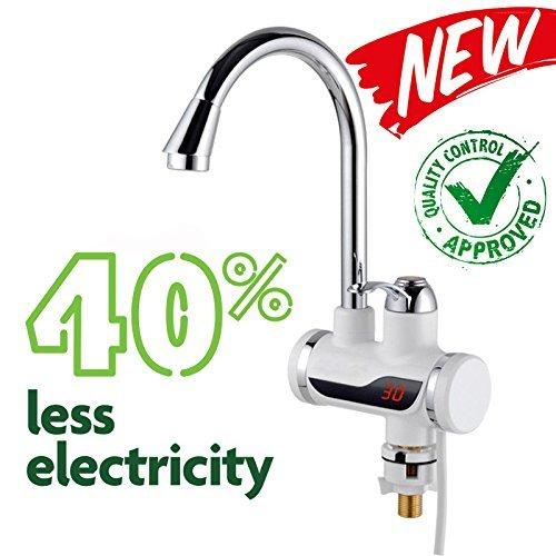 EuroQuality scaldabagno elettrica con LED Display, 3000 & Tankless elettrico rubinetto & riscaldamento istantaneo scaldabagno