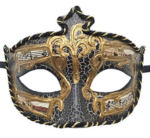 Coolwife Herren Maskenball-Maske, Vintage-Stil, venezianischer Riss - - Einheitsgröße -