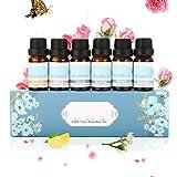 Janolia ätherische Öle, 6 Flaschen reine Aromatherapie Duftöl Geschenk-Set, 10ml,