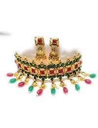 Indian Ethnic Designer Fashion High Quality Kundan,Pearl And Stone Work Padmawat Golden, Green And Mahroon Kundan...