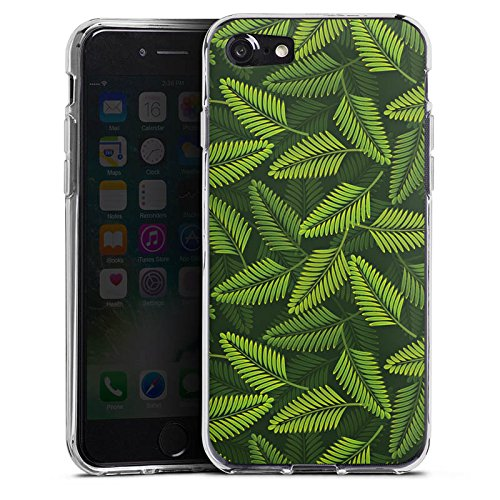 Apple iPhone X Silikon Hülle Case Schutzhülle Palme Pflanzen dschungel Silikon Case transparent