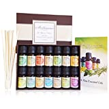 SoulEssence® 'Ultimate Collection' Essential Oils Set Starter Pack (14 bottles) - Pure Therapeutic Grade Aromatherapy massage oils, Bonus reed sticks, 10 ml per Bottle