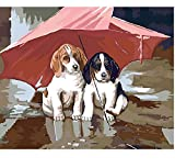 CCEEBDTO Classic Jigsaw Puzzles 1500 Pieces Adults Puzzles Wooden Puzzles Dogs In Rain Diy Collectibles Modern Home Decoration 87X57Cm