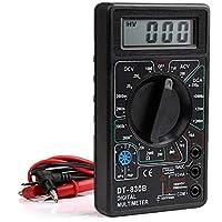 Professional Digital Multimeter Volt-Meter Ammeter AC DC OHM AMP DIODE Tester - Black